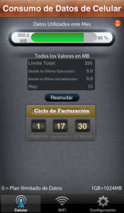 2- Consumo de Datos ( Data Usage )