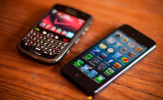iphone y blackberry