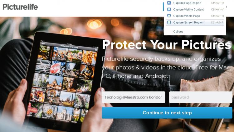 Almacenar fotos gratis espaol