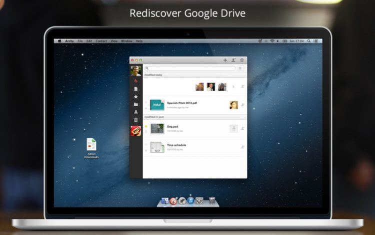 gestor de google drive en mac,