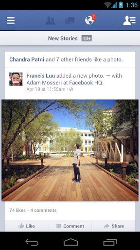 Facebook Andorid