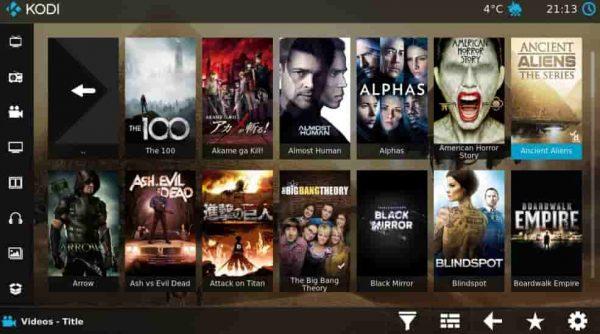 kodi ver peliculas y tv gratis