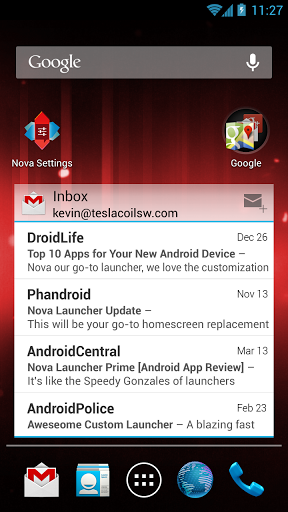 nova launcher android tecnologiamaestro