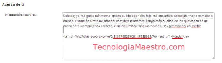 perfil wordpress tecnologiamaestro