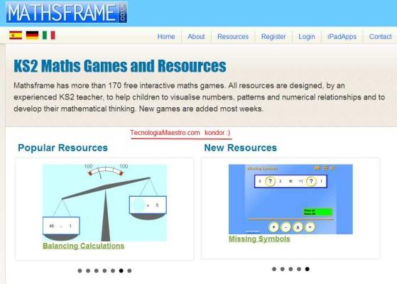 Mathsframe (tecnologiamaestro.com)