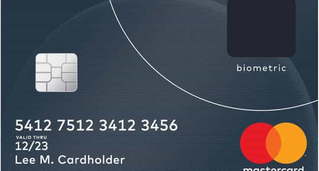 nueva tarjeta mastercard que utiliza lector de huella