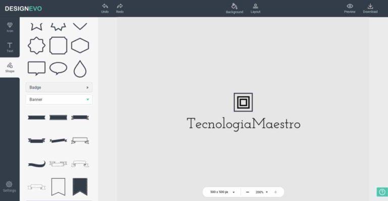 designevo para crear un logo gratis online