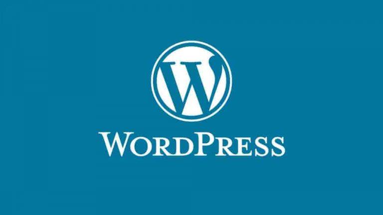 Wordpress con fondo azul viejo