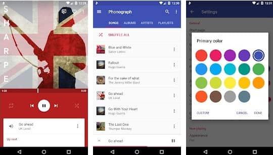 Phonograph es el mejor reproductor de música local en Android