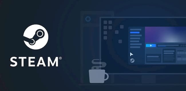 Steam imagen del logo y monitor