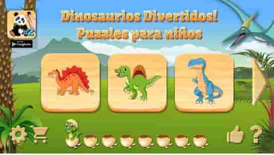 dino pizzles juego de dinosaurios en android
